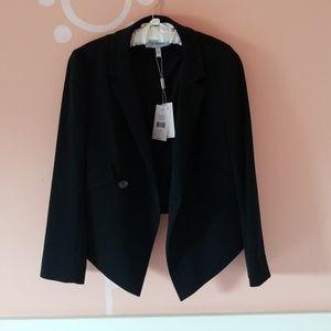 Derek Lam 10 Crosby black cropped jacket